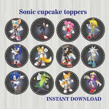 sonic the hedgehog cake topper sonic topper instant sonic party sonic cake sonic