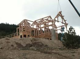 hand build architectural wood framework model house timber frame homes precisioncraft timber homes post and beam