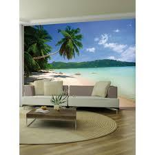 desert island beach wall mural 2 32m x 3 15m
