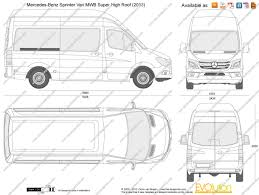 mercedes length the blueprints com vector drawing mercedes sprinter