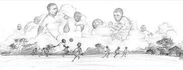football player sketches drawings