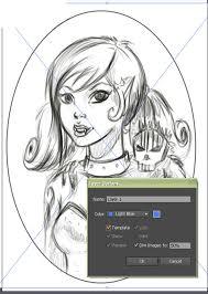 create a feisty female vampire and her pet in adobe illustrator