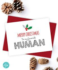 merry christmas to my favorite human card by flairandpaper on