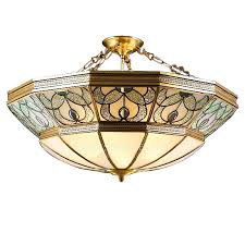 Stained Glass Light Fixtures Tiffany Type Stained Glass Fun Ceiling Lights 4 Light