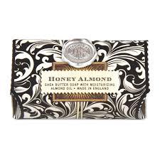 michel design works home fragrance diffuser honey almond large bath soap bar by michel design works