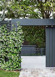three outdoor designs for a green and white garden home