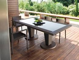 tavoli da giardino rattan tropez tavolo da giardino rettangolare by roberti rattan