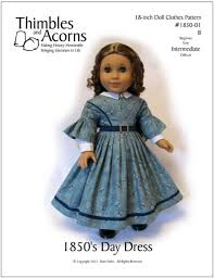 s day clothes 1850 s day dress 18 inch doll clothes pdf pattern pixie