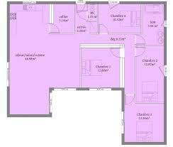 plain pied 4 chambres plan maison en l plain pied 4 chambres plan maison