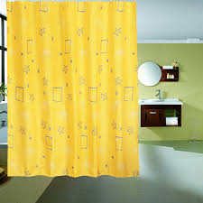 Boutique Curtains Fresh Style Shower Curtain Boutique Curtains New Printing Yellow