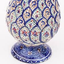 Enamel Vase Blue And White Enamel Vase