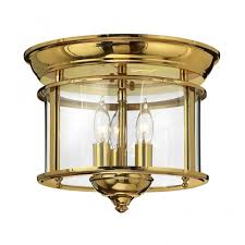 flush mount lantern light traditional flush mount ceiling lantern in polished brass