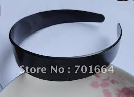 bando headbands 20pcs 10mm black plain plastic hair headbands with two rows teeth