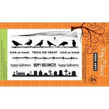 papiria hero arts clear stamp halloween borders