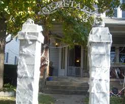 halloween entrance decorations cemetery archway entrance 5 steps with pictures