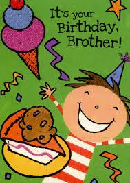 boy with cake and ice cream brother birthday card by freedom
