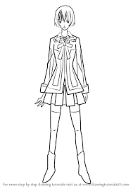 learn how to draw seiren from vampire knight vampire knight step
