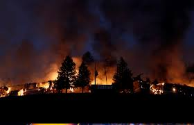 Wildfire John Denver by Fire Crews Battle As Deadly California Wildfires Rage On