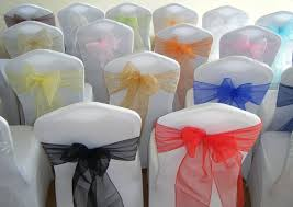 Chair Sashes Party Event Decor Rental Queen Wedding Decor
