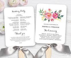 wedding program fan template lush floral wedding program fan template printable fan garden