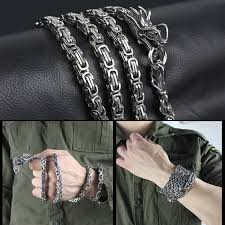 titanium steel bracelet images Self defense weapon keel titanium steel bracelet longji string jpg