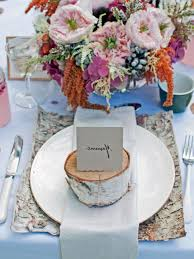 outdoor wedding table settings wedding party decoration