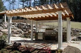 Trellis With Vines Patio U0026 Pergola Pergolas Stone Patio Builders In Rutland Image
