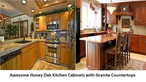kitchen lovely oak kitchen cabinets with granite countertops