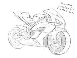 how to draw a motorbike step 6 art pinterest studio art