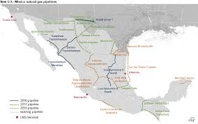 regions of mexico map new u s border crossing pipelines bring shale gas to more regions