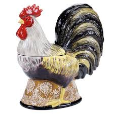 rooster canisters kitchen products vintage rooster 3d cookie jar tuscan italian decor