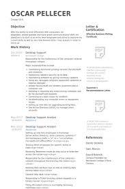 desktop support resume samples visualcv resume samples database