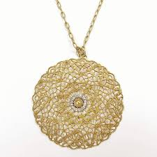 medallion pendant necklace images Catherine popesco filigree medallion pendant necklace with jpg