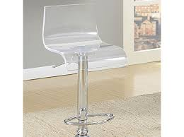 Acrylic Bar Table Trixy Contemporary Chrome Finish Acrylic Bar Table Shop For