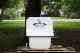 small deep utility sink befon for