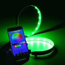 ring light effect app 1pair app control led angel eyes car headlight halo ring warning