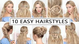 hair tutorial 10 hairstyles for new year s eve party holidays quick and easy
