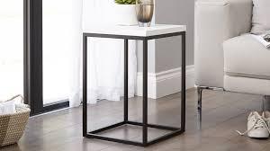 black and white side table acute matt white and black side table metal side table living