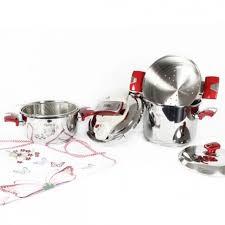 une batterie de cuisine de cuisine noblesse 7 pièces en inox