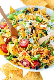buffalo chicken taco salad peas and crayons