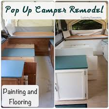 Rv Renovation Ideas by Pop Up Camper Remodel Painting And Flooring Exploring Domesticity