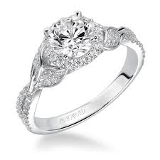 kay jewelers catalog artcarved diamond engagement halo setting in 14kt white gold 1
