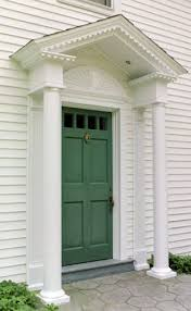 Exterior Door Pediment And Pilasters Front Door Entry Pediment With Dentil Moulding Sunburst
