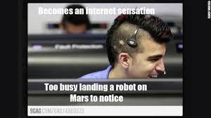 Gay Guy Meme - meet mohawk guy star of the mars landing hair meme meme and memes