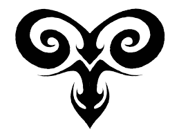 tribal aries tattoo design idea sabloane pinterest aries