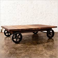 Rolling Coffee Table Alluring Rolling Coffee Table Rolling Industrial Coffee