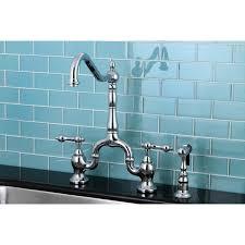 kitchen faucets overstock high spout chrome bridge handle kitchen faucet