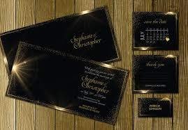 black and gold wedding invitations black gold wedding invitation suite invitation templates