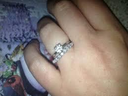 plain engagement ring with diamond wedding band solitaire with diamond wedding band yours