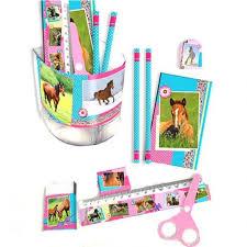 set de bureau fille set de bureau motif cheval papeterie cheval fille cavacado